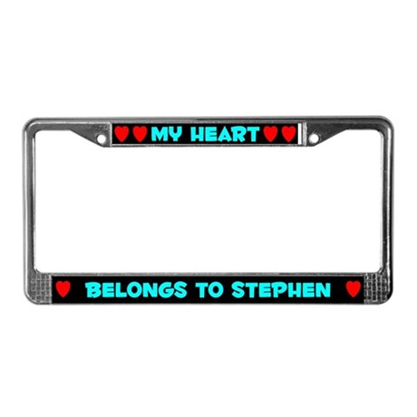 My Heart: Stephen (#003) License Plate Frame