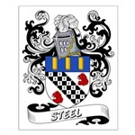 Steel Coat of Arms Small Poster