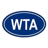 WTA Oval Decal