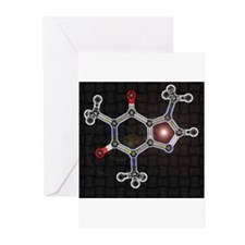 Caffeine molecule Greeting Cards (Pk of 20)