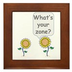 What's your zone? Framed Tile