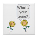 What's your zone? Tile Coaster