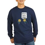 What's your zone? Long Sleeve Dark T-Shirt