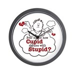 Anti-Valentine's Day Stupid Cupid Wall Clock