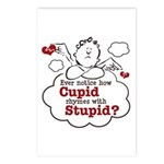 Anti-Valentine's Day Stupid Cupid Postcards (Packa