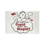 Anti-Valentine's Day Stupid Cupid Rectangle Magnet
