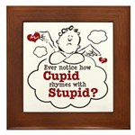 Anti-Valentine's Day Stupid Cupid Framed Tile