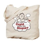 Anti-Valentine's Day Stupid Cupid Tote Bag