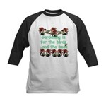 Gardening is for the birds Kids Baseball Jersey