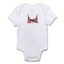 American Flags Red Tractor Infant Bodysuit