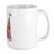 American Flags Red Tractor Mug