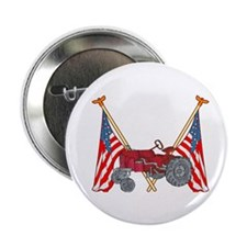 "American Flags Red Tractor 2.25"" Button (10 pack)"