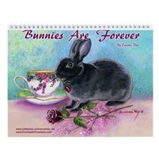 Bunny Rabbit Art Wall Calendar