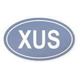 XUS Oval Decal