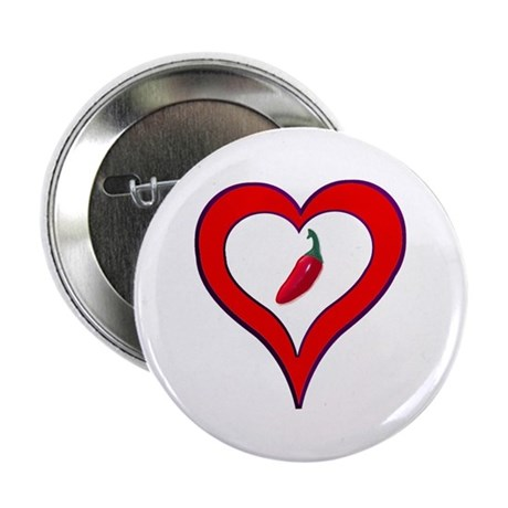 "Red Hot Pepper Valentine 2.25"" Button"
