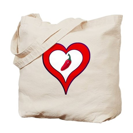 Red Hot Pepper Valentine Tote Bag