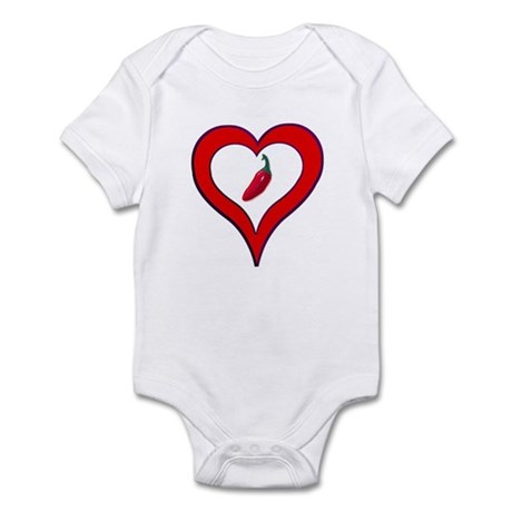Red Hot Pepper Valentine Infant Bodysuit