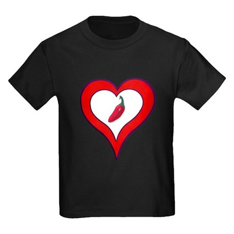 Red Hot Pepper Valentine Kids Dark T-Shirt