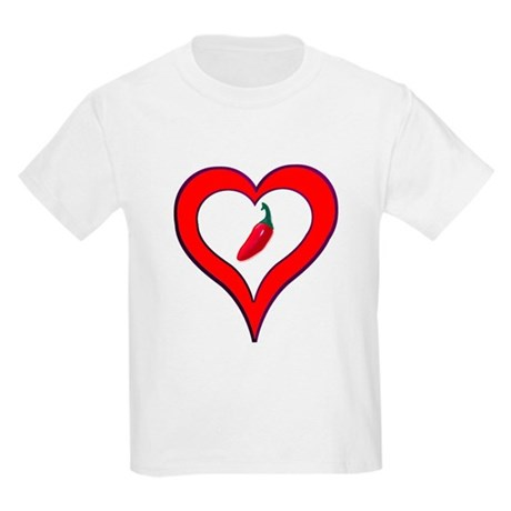 Red Hot Pepper Valentine Kids Light T-Shirt