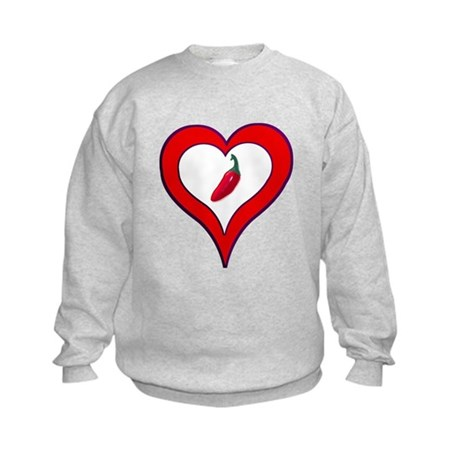Red Hot Pepper Valentine Kids Sweatshirt