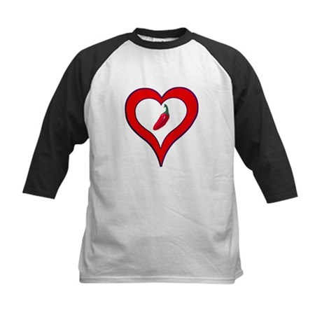 Red Hot Pepper Valentine Kids Baseball Jersey