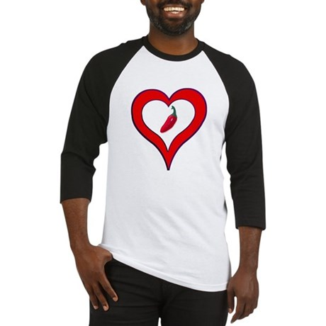 Red Hot Pepper Valentine Baseball Jersey