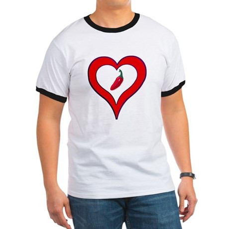 Red Hot Pepper Valentine Ringer T