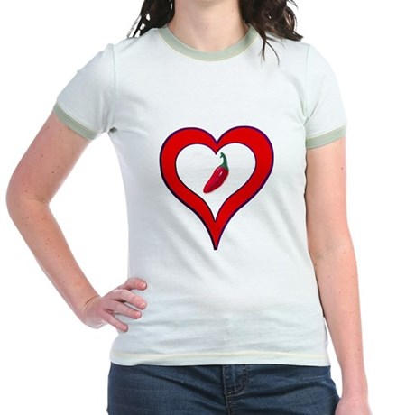 Red Hot Pepper Valentine Jr. Ringer T-Shirt