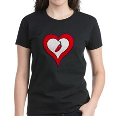 Red Hot Pepper Valentine Women's Dark T-Shirt