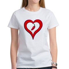 Red Hot Pepper Valentine Women's T-Shirt