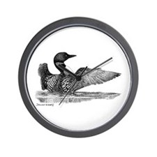 Painted Loon Wall Clock