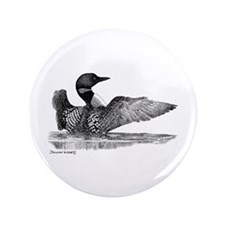"Painted Loon 3.5"" Button"