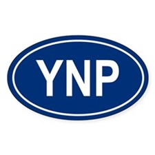 YNP Oval Decal