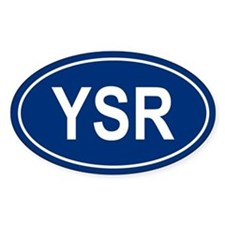 YSR Oval Decal