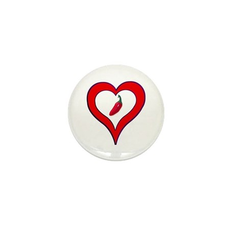 Red Hot Pepper Valentine Mini Button