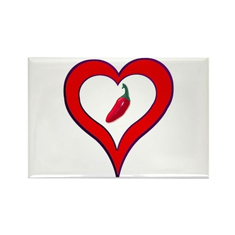 Red Hot Pepper Valentine Rectangle Magnet