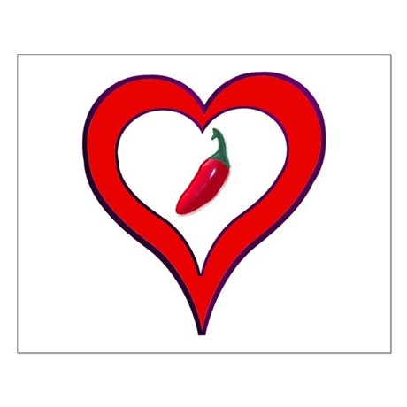 Red Hot Pepper Valentine Small Poster
