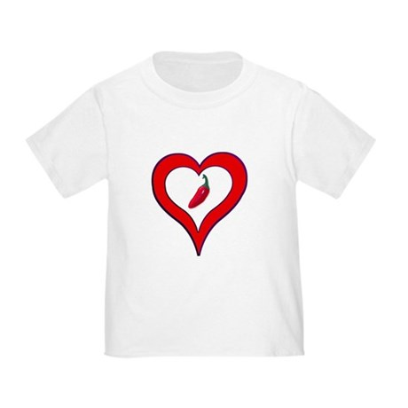 Red Hot Pepper Valentine Toddler T-Shirt