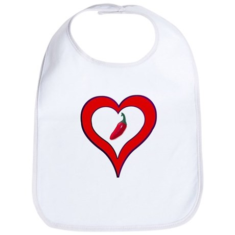 Red Hot Pepper Valentine Bib