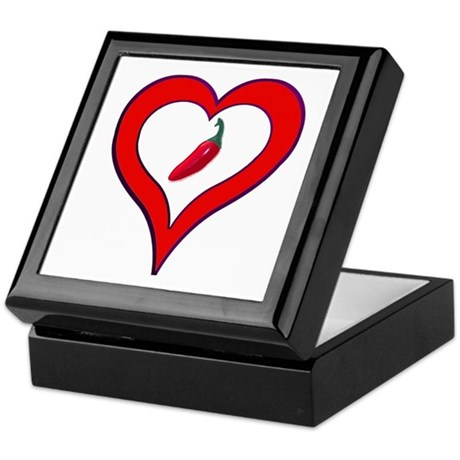 Red Hot Pepper Valentine Keepsake Box
