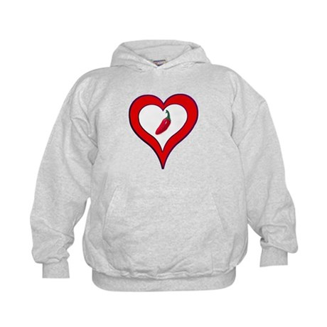 Red Hot Pepper Valentine Kids Hoodie