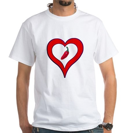 Red Hot Pepper Valentine White T-Shirt