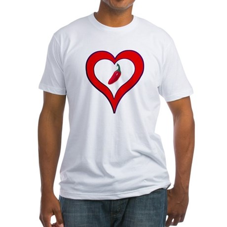 Red Hot Pepper Valentine Fitted T-Shirt