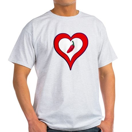 Red Hot Pepper Valentine Light T-Shirt