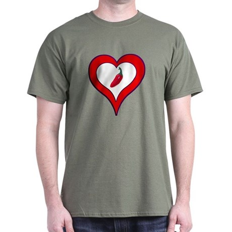 Red Hot Pepper Valentine Dark T-Shirt
