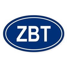 ZBT Oval Decal