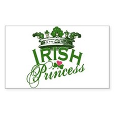 Irish Princess Tiara Rectangle Decal