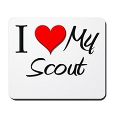 I Heart My Scout Mousepad