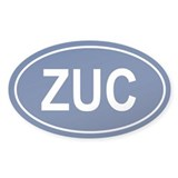 ZUC Oval Decal