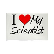 I Heart My Scientist Rectangle Magnet